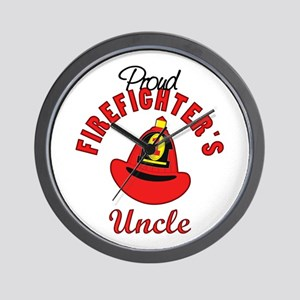 Proud Firefighter's Uncle Wall Clock