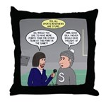 Sports Interview Throw Pillow