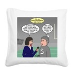 Sports Interview Square Canvas Pillow