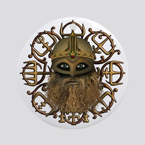 Viking & Vegvisir Ornament (Round)