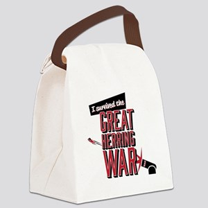 I Survived The Great Herring War Canvas Lunch Bag