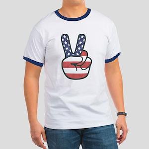 Peace Hand Ringer T