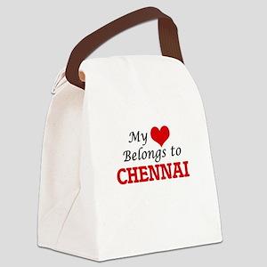 My heart belongs to Chennai Indi Canvas Lunch Bag