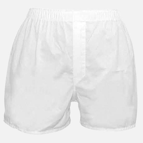 Cute HODL White Print Boxer Shorts