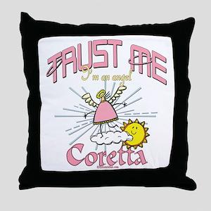 Angelic Coretta Throw Pillow