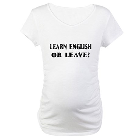 Learn English T-shirts & Gift Maternity T-Shirt