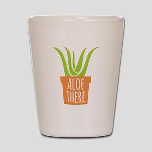 Aloe There Shot Glass