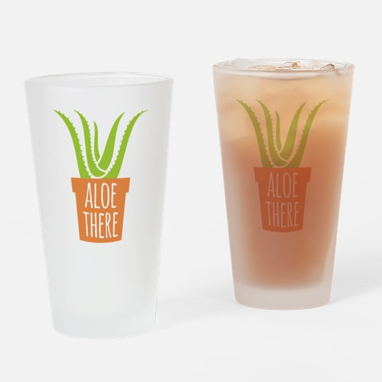 Aloe There Drinking Glass