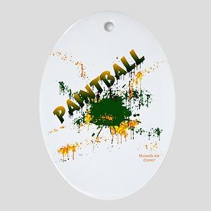 Paintball Oval Ornament
