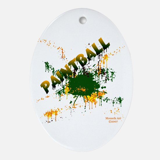Paintball Oval Ornament