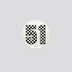 Checkered Number 41 Mini Button