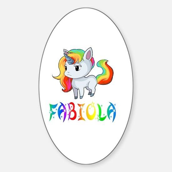 Cute Fabiola Sticker (Oval)