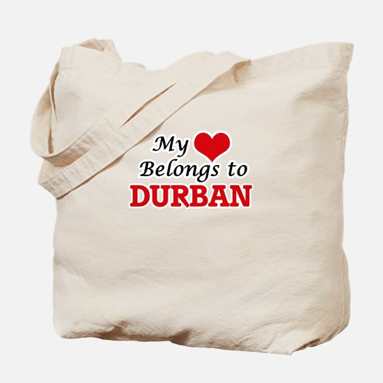 My heart belongs to Durban South Africa Tote Bag