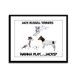 WANNA PLAY...JACKS? Framed Panel Print