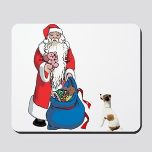 SANTA AND JACK RUSSELL Mousepad