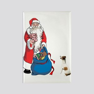 SANTA AND JACK RUSSELL Rectangle Magnet