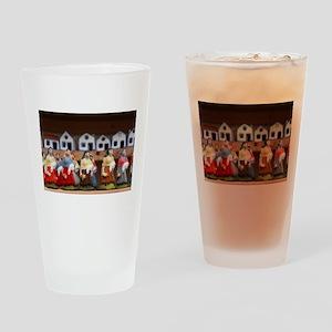 Handpainted figurines Drinking Glass