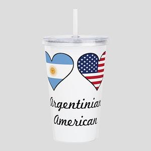 Argentinian American Flag Hearts Acrylic Double-wa