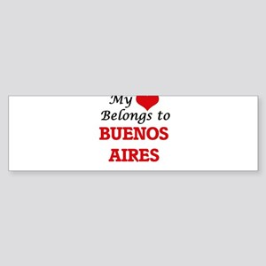 My heart belongs to Buenos Aires A Bumper Sticker