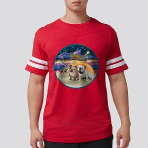 Xmas Star (R) - Two English Bulldogs T-Shirt