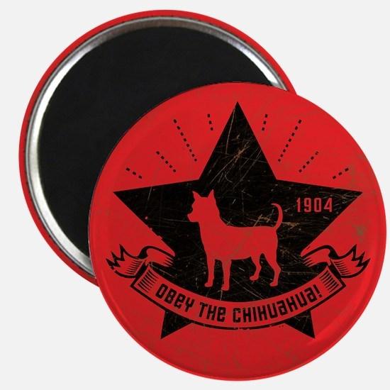 Obey the Chihuahua! Icon Propaganda Magnet
