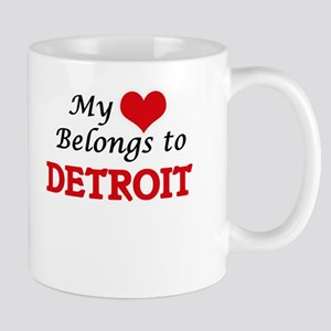 My heart belongs to Detroit Michigan Mugs