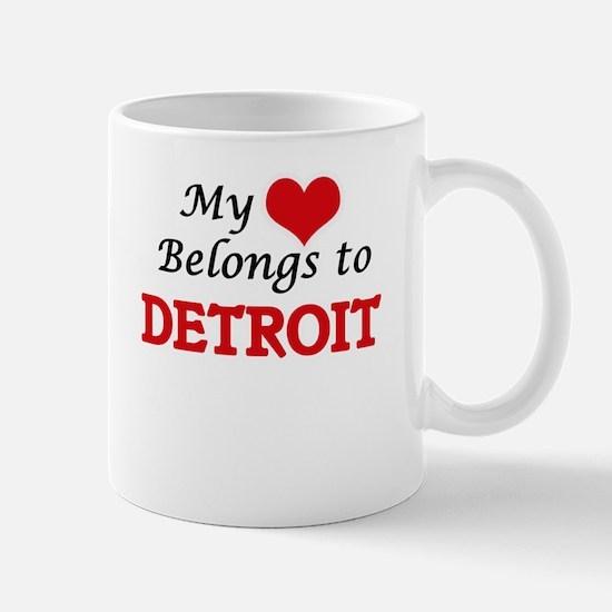My heart belongs to Detroit Michigan Mugs