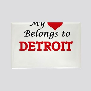 My heart belongs to Detroit Michigan Magnets