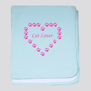 Cat lover baby blanket