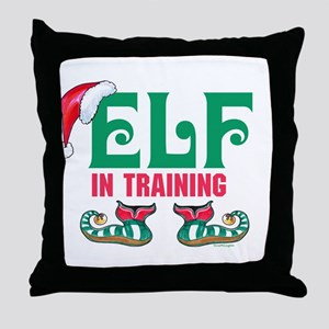 ELF in TRAINING Throw Pillow
