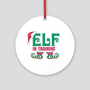ELF in TRAINING Ornament (Round)