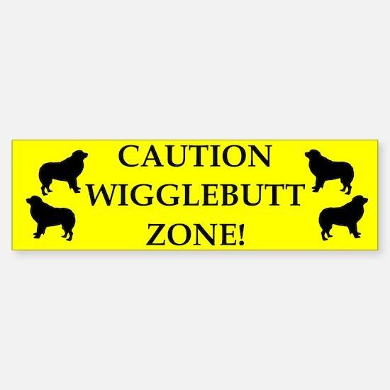 Wigglebutt Zone Bumper Bumper Bumper Sticker