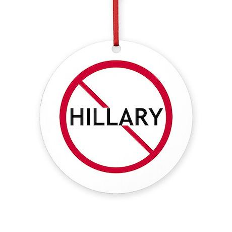 Close Hillary Ornament (Round)