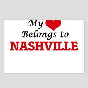 My heart belongs to Nashv Postcards (Package of 8)