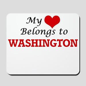 My heart belongs to Washington District Mousepad