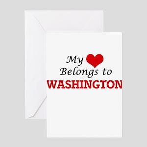 My heart belongs to Washington Dist Greeting Cards