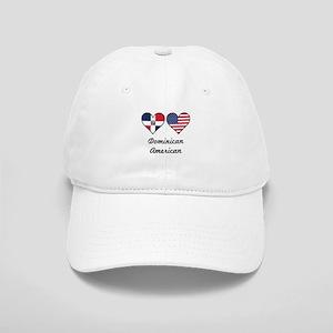Dominican American Flag Hearts Baseball Cap