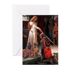 Accolade / Weimaraner Greeting Cards (Pk of 10)