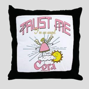 Angelic Cora Throw Pillow