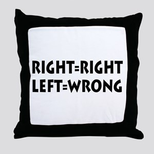 Right=Right Throw Pillow