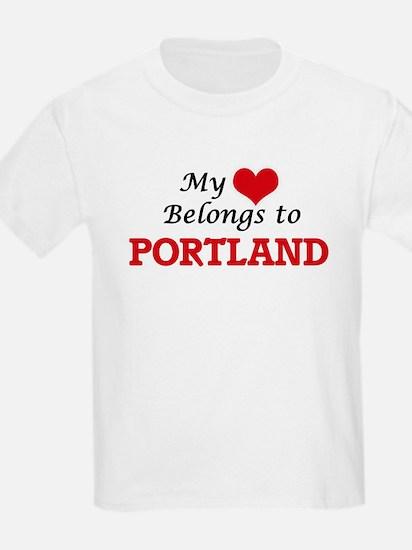 My heart belongs to Portland Oregon T-Shirt