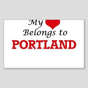 My heart belongs to Portland Oregon Sticker