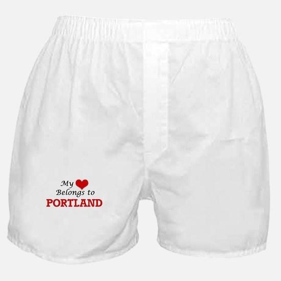 My heart belongs to Portland Oregon Boxer Shorts