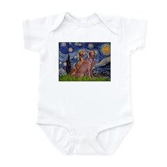 Starry / 2 Weimaraners Infant Bodysuit