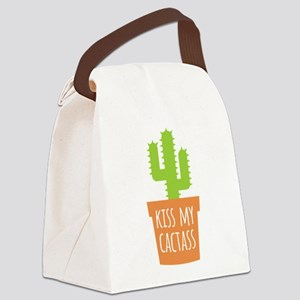 Kiss My Cactass Canvas Lunch Bag
