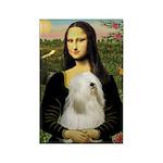Mona / Tibetan T Rectangle Magnet (10 pack)