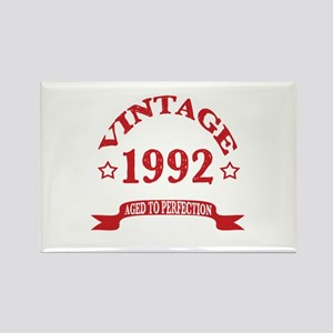 Vintage 1992 Aged To Perfection Rectangle Magnet