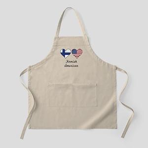 Finnish American Flag Hearts Light Apron