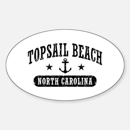Topsail Beach NC Sticker (Oval)