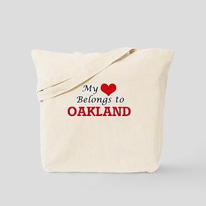 My heart belongs to Oakland California Tote Bag